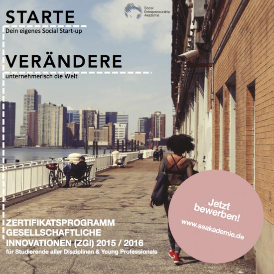 Zertifikatsprogramm Gesellschaftliche Innovationen (ZGI)