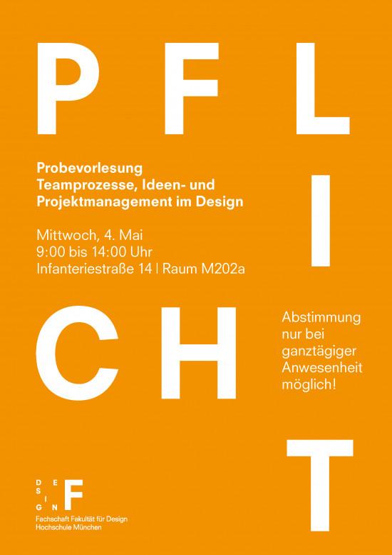 Probevorlesung - Teamprozesse, Ideen- und Projektmanagement im Design