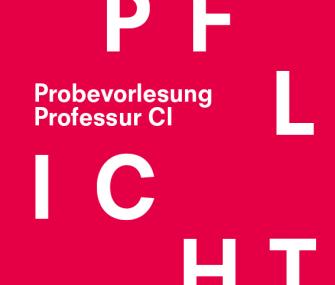 Probevorlesungen – Professur CI