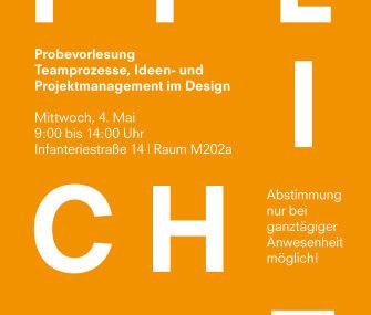 Probevorlesung – Teamprozesse, Ideen- und Projektmanagement im Design