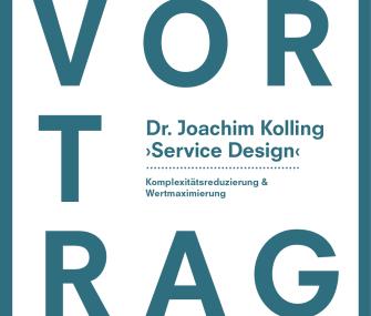 Service Design – Dr. Joachim Kolling